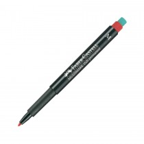 Faber Castell Multimark 1525 Permanent Medium 1.0mm  Red