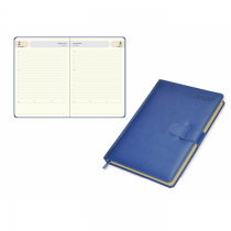 2020 Agenda Diary, Italian PU Cover, Round Corner with Strap Closure, 1Day/Page - English (75EPG)