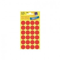 Avery Marking Labels, Dots, 18 mm, Red, 96/pack