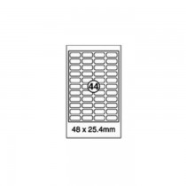 Xel-lent 44 Labels/Sheet, Rounded Corners, 48 x 25.4 mm, 100 Sheets/Pack