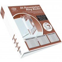 FIS FSBD450DPB Presentation 4-Ring Binder - 50mm Ring, A4, White