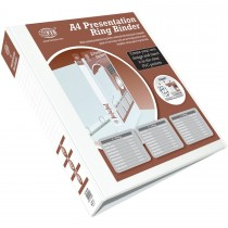 FIS FSBD350DPB Presentation 3-Ring Binder - 50mm Ring, A4, White