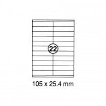 Xel-lent 22 Labels/Sheet, Straight Corners, 105 X 25.4 mm, 100 sheets/pack