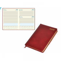 2020 Diary, A4, Bonded Leather Cover, 1Day/Page, Saturday & Sunday Combined - English (48EGB)
