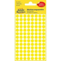 Avery Marking Labels Dots 8 mm Yellow 416/pack