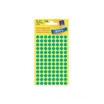 Avery Marking Labels, Dots, 8 mm, Green, 416/pack