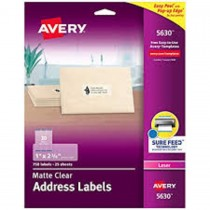 Avery 5660 Easy Peel Clear Address Labels  1 x 2 - 5/8 (1500 Labels)