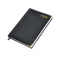 2020 Diary, A4, Vinyl Cover, Golden Corners, 1Day/Page, Saturday & Sunday Combined - English (48EG)
