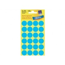Avery Marking Labels, Dots, 18 mm, Blue, 96/pack