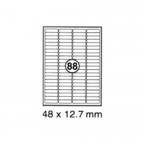 xel-lent 88 labels/sheet, rounded corners, 48 x 12.7 mm, 100sheets/pack