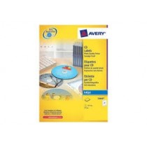 Avery C9660 Full Face CD Labels, Smudge Proof, diameter 117 mm, 10sheets/pack