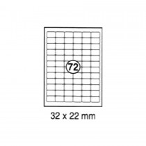 xel-lent 72 labels/sheet, rounded corners, 32 x 22 mm, 100sheets/pack