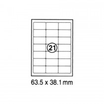 xel-lent 21 labels/sheet, rounded corners, 63.5 x 38.1 mm, 100sheets/pack