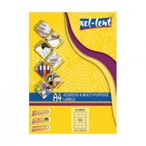 xel-lent 18 labels/sheet, rounded corners, 63.5 x 46.6mm, 100sheets/pack