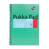 Pukka Pad Jotta Wirebound A5, squared, 80gsm, 200sheets/pad, Green
