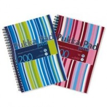 Pukka Pad Jotta Wirebound A4, squared, 80gsm, 200sheets/pad, Assorted Colors