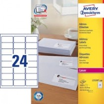 Avery L-7159 White Address Labels, 100 sheets/pack (63.5 x 33.9mm)