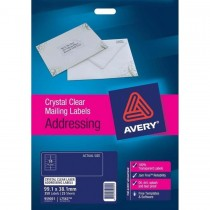 Avery Crystal Clear Address Labels  L7563  350 Labels/Pack  99.1 x 38.1 mm
