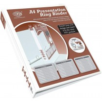 FIS FSBD340DPB Presentation 3-Ring Binder - 40mm Ring, A4, White