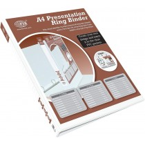 FIS FSBD425DPB Presentation 4-Ring Binder - 25mm Ring, A4, White