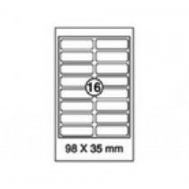 xel-lent 16 labels/sheet, rounded corners, 98 x 35 mm, 100sheets/pack