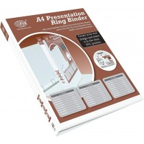 FIS FSBD220DPB Presentation 2-Ring Binder - 20mm Ring, A4