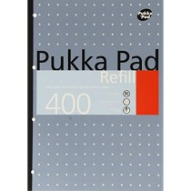 Pukka Pad Refill A4, line ruled, 80gsm, 160sheets/pad, Assorted Metallic Colors