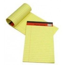 Sinarline Legal Pad A4, 56gsm, 50 Sheets, Line Ruled, Yellow