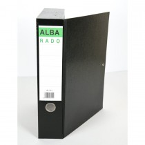 Alba Rigid Closed Box File - F/S, Black