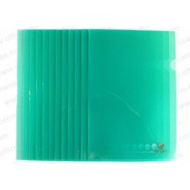 Atlas Clear L Folder F/S, 12/pack, Green