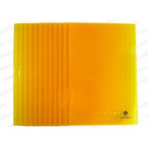 Atlas Clear L Folder F/S, 12/pack, Yellow