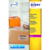 Avery Clear Laser Labels, Full Sheet, [Ref: L7567-25] Pack of 25