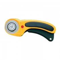 Olfa Deluxe Ergonomic Rotary Cutter, Yellow and Black [OL-RTY-2/DX]