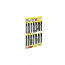 Olfa Assembled Knife, Yellow and Black, sheet of 20pcs OL-S/20