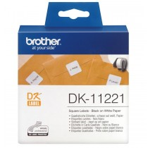 Brother DK11221 Square Label 23mmx23mm