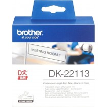 Brother DK22113 Continuous Length Film Clear Tape 62mmx15.24m