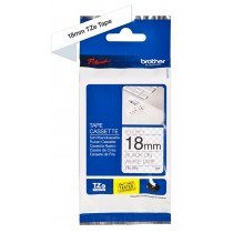 Brother TZ SE4 18mm Black on White Security Tape
