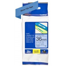 Brother Tze-561 Black on Blue 36mm Laminated Tape