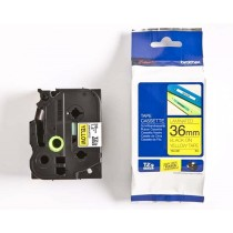 Brother Tze-661 Black on Yellow 36mm Laminated Tape