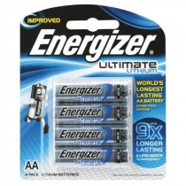 Energizer L91 AA Ultimate Lithium Battery (Pack of 4)