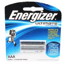 Energizer L92 AAA Ultimate Lithium Battery (Pack of 2)