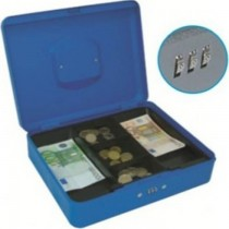 FIS FSCPTS0017BL Cash Box with Number Lock  12 Blue