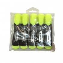 Cello Highlighter 5pcs/pack  Yellow
