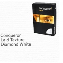 Conqueror Paper, A4, 100gsm, Diamond White, Laid Finish, 500sh/pack
