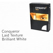 Conqueror Paper, A4, 220gsm, Laid Finish, Brilliant White 100sh/Pack?