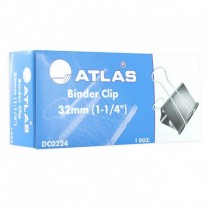Atlas Binder Double Clips 32mm / 11/4 12/box