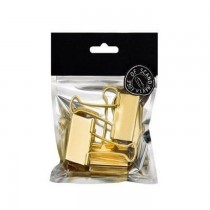 BNT EDGE Binderclips41mm3pcsGold (781116)