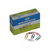 FIS Colored Paper Clips 28mm 100clips/pack