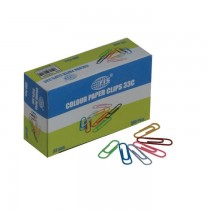 FIS Colored Paper Clips Assorted Colors 33mm 100clips/pack
