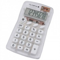 Olympia LCD  825 Pocket Calculator 8 Digits White / Transparent